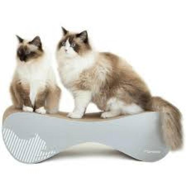 Vigo cat scratcher / bed / lounger / toy - grey