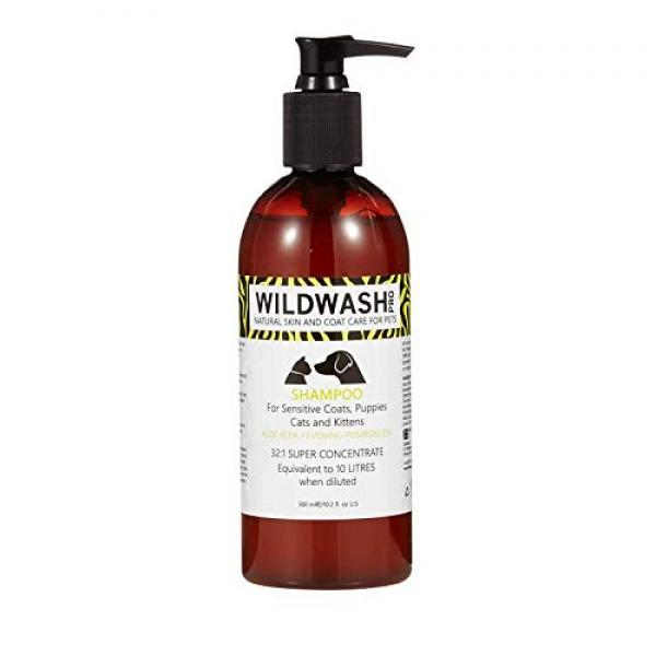 WildWash Professional Shampoo for Sensitive Coats, Puppies, Cats and Kittens , 300ml