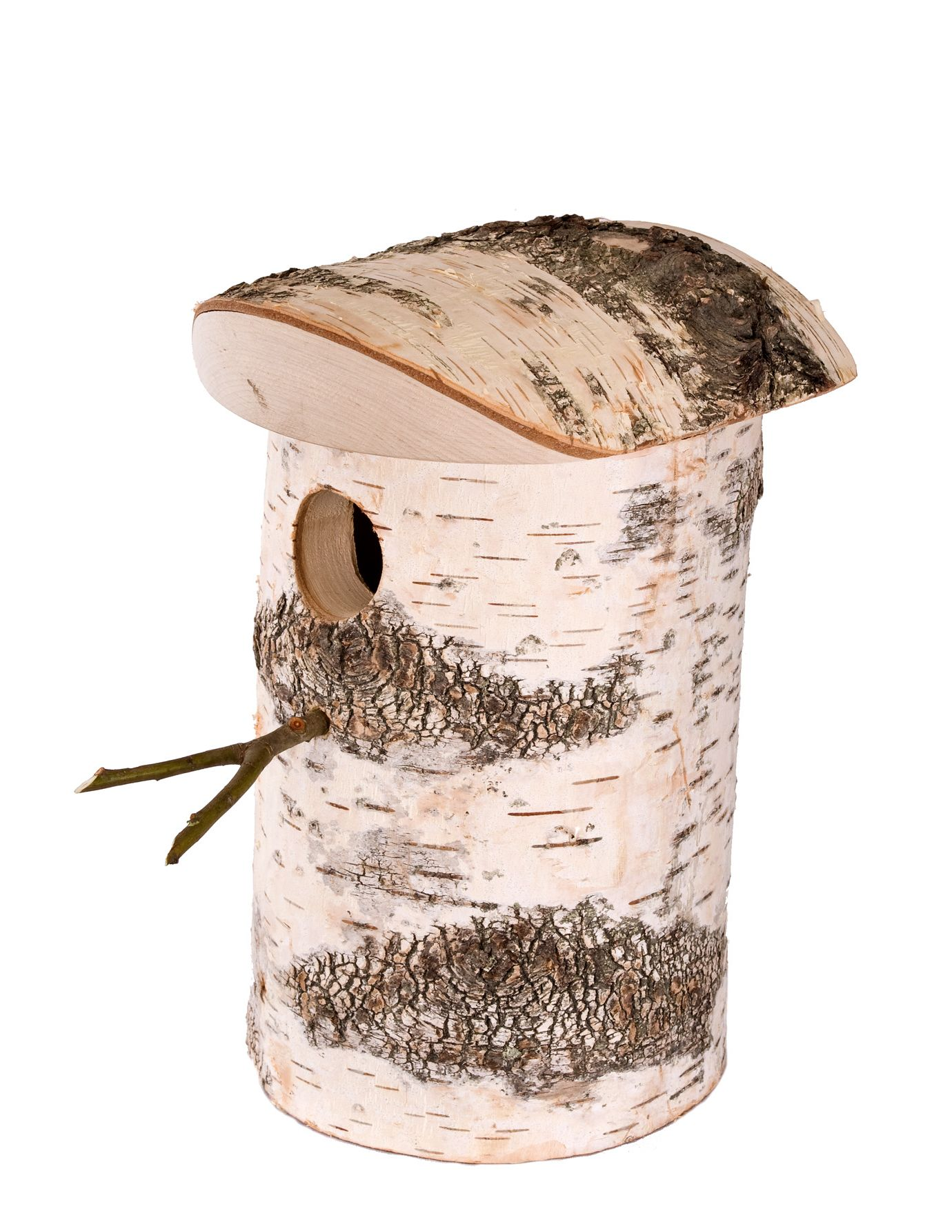 Hand Made Silver Birch Bird Box Fsc Certified